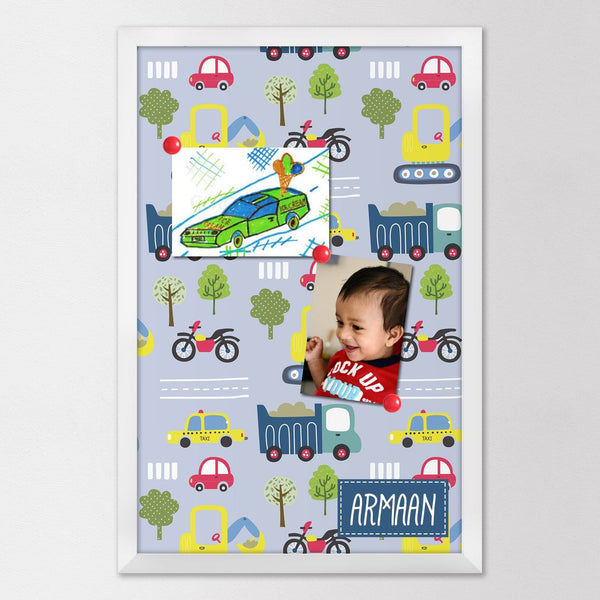 Transport themed magnet board
