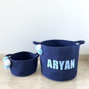 Navy Blue - Cotton Rope Baskets