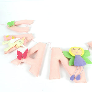 Personalised Fairy Princess Name Bunting