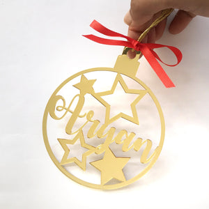 Personalised Gold Bauble - Stars