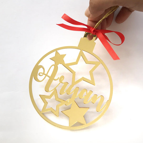 Peronalised Christmas Bauble - Star