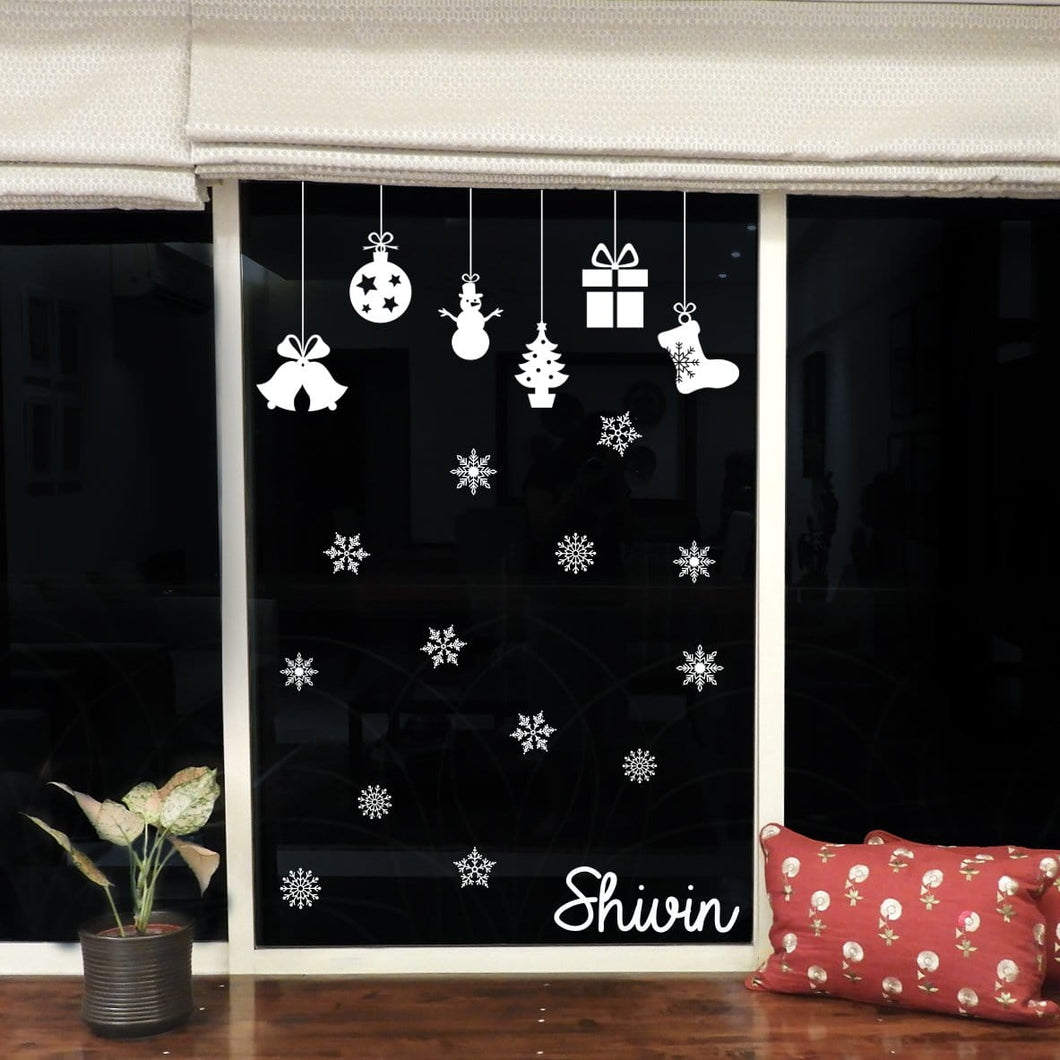 Personalised Christmas Window Decal Stickers