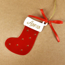 Personalised Stocking Christmas Ornament