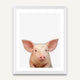 Little Piggy - Minimalist Framed Wall Art