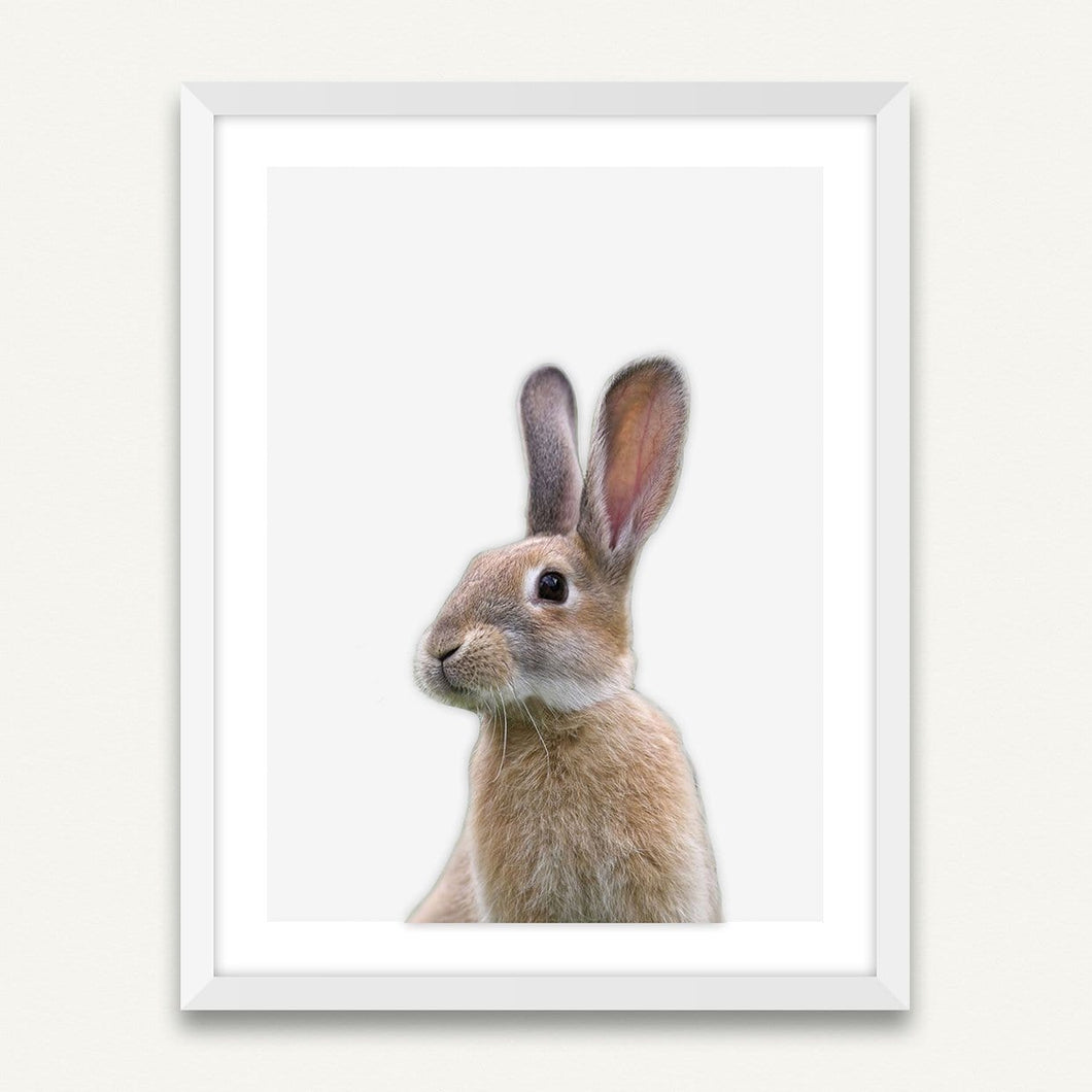 Little Rabbit - Minimalist Framed Wall Art