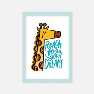 Reach for your Dreams - Framed Art Print