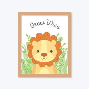 Wild Animal Portrait Frames Set