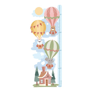 Hot Air Balloon - Height Chart Sticker