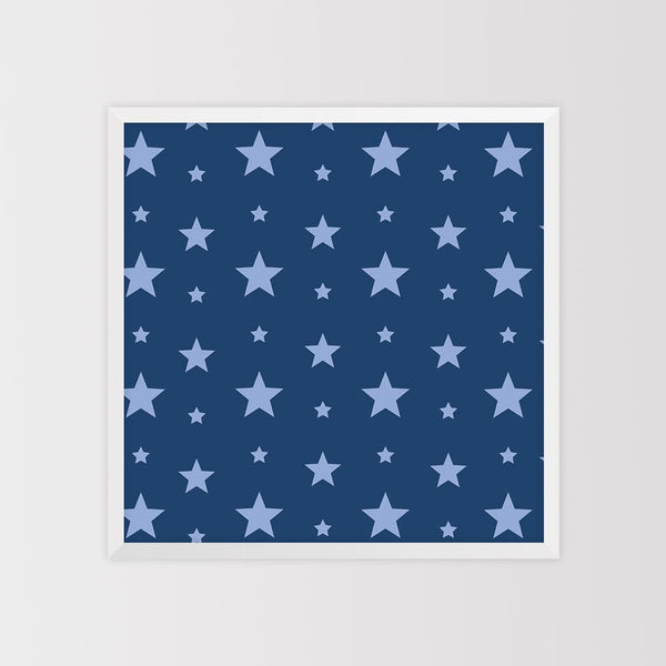 Star Pattern Magnet Board - Blue
