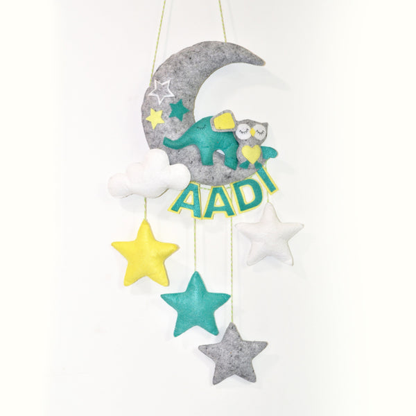 Personalised Elephant and owl Cot Mobile