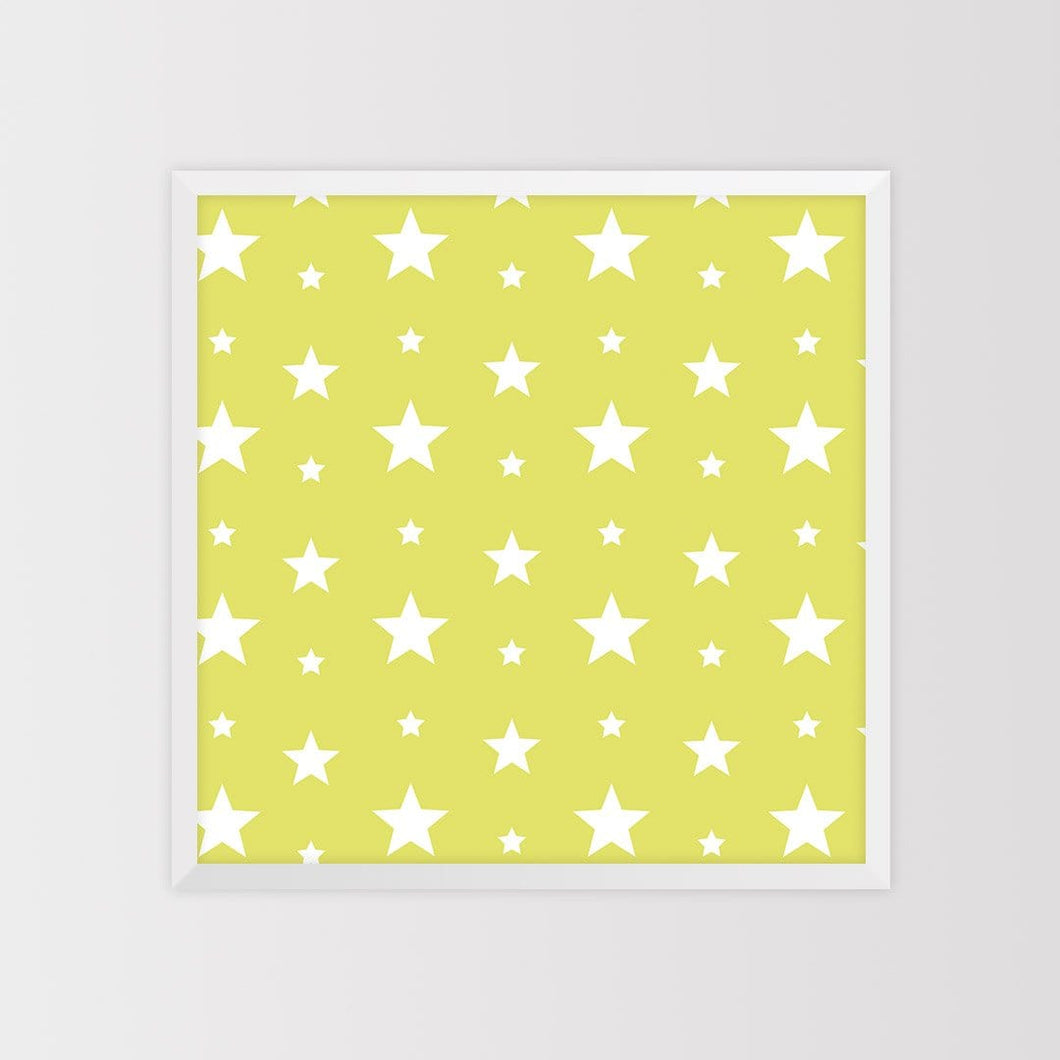 Star Pattern Magnet Board - Lime Green