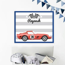 Personalised Racing Car Magnet Board