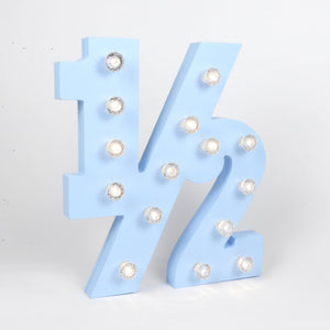 half number baby marquee light
