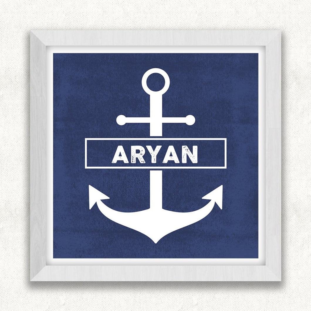 Personalised Anchor Framed Wall Art