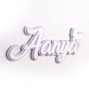 Personalised 3D Acrylic Name Plate - Butterfly