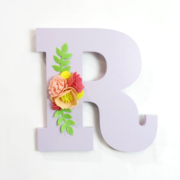 Personalised Initial with Flowers