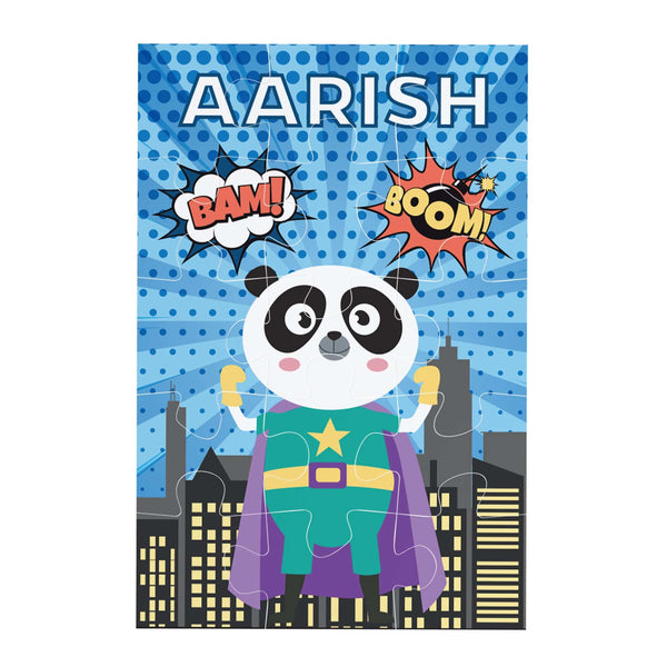Super Hero Personalised Jigsaw puzzle