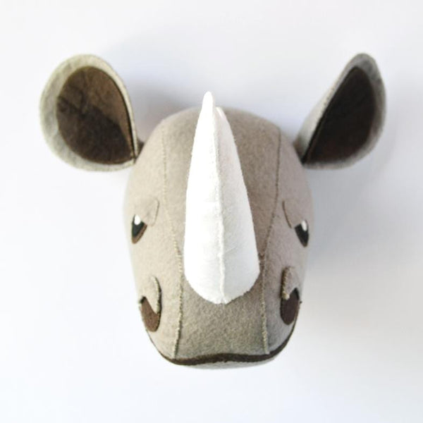 Ronald the Rhino - Faux Taxidermy Animal Head
