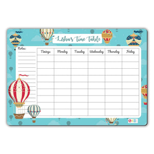 Rewritable Timetable Magnet - Hot Air Balloon