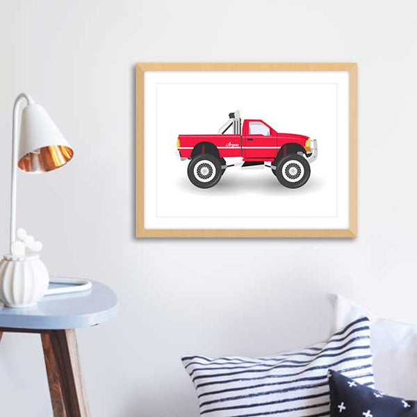 Red Truck - Framed Wall Art