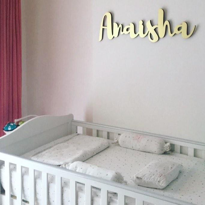 Personalised Name Wall Hanging - Gold