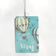 Luggage tag - Hot air balloon (Blue)