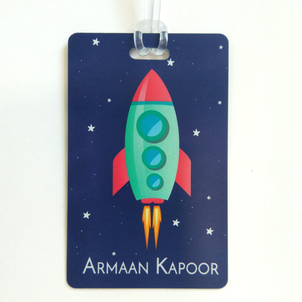 Luggage Tags - Space Rocket