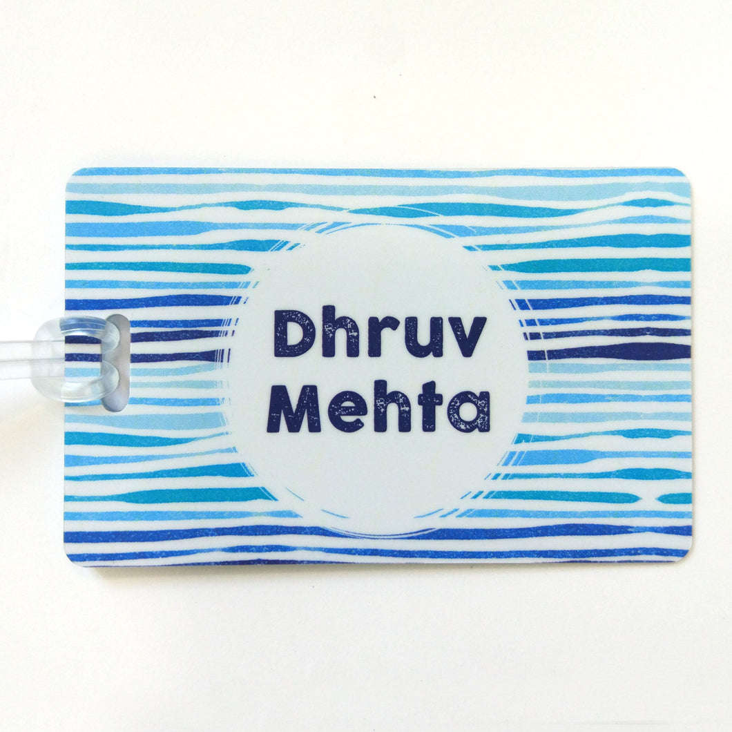 Luggage Tags - Blue Stripes
