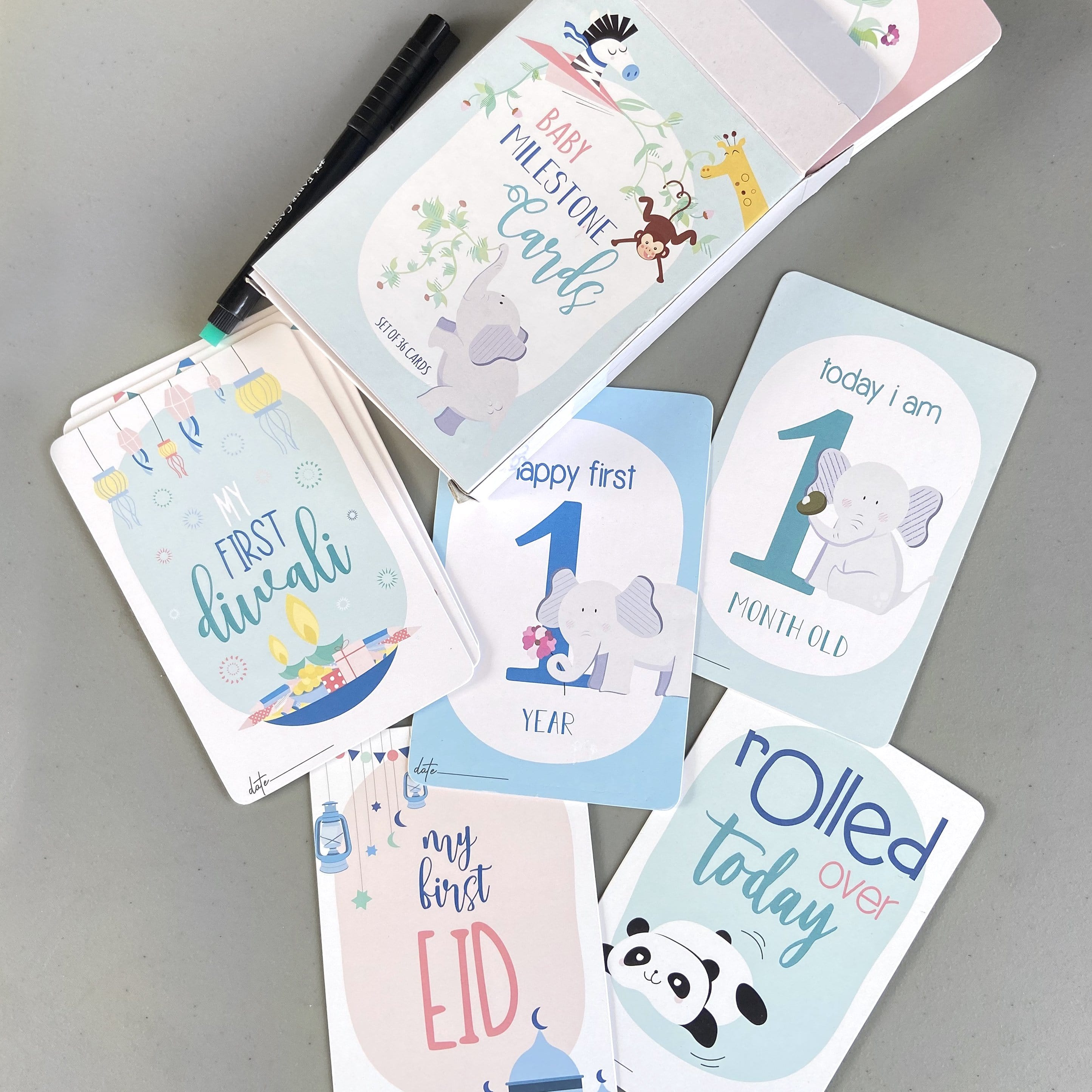Baby Milestone Cards Set For Newborns and Ideal Baby Shower Gifts