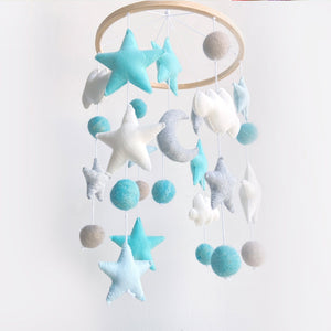 Clouds & Stars Ceiling Mobile Hanging - Blue