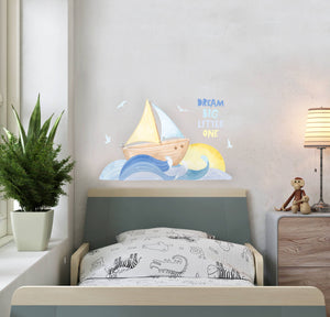 Sail Away Wall Decal Sticker