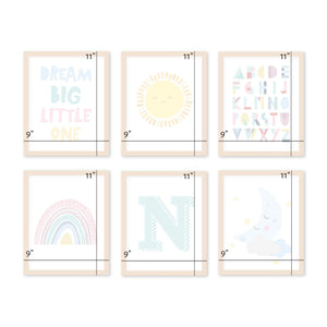 rainbow-baby-nursery-wall-art-frames-set