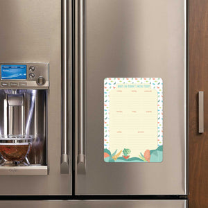 Re-Writeable Meal Plan Fridge Magnet - Dinosaur