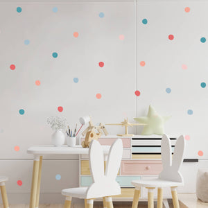 Pastel Polka Dot Wall Decal Sticker