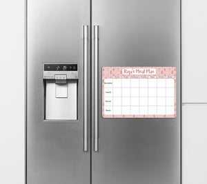 Re-Writeable Meal Plan Fridge Magnet - Pineapple