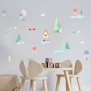 city spaces-theme-kids-room-nursery-wall-decal-vinyl-sticker