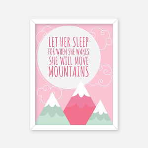 Let Her Sleep - Motivational Wall Art