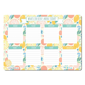 Re-Writeable Meal Plan Magnet - Citrus