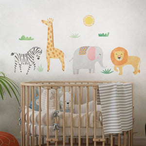 Illustrated Animals Wall Decal Sticker