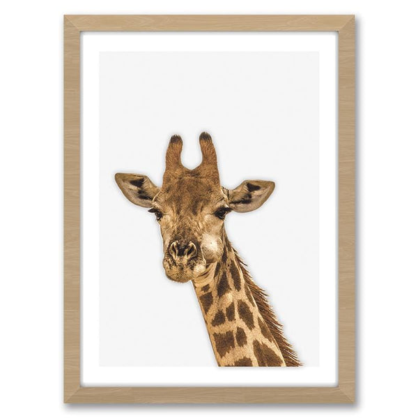 Little Giraffe - Minimalist Framed Wall Art