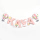 Pink Hot Air Balloon Embellished Name Bunting/Garland