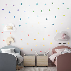 Rainbow Polka Dot Wall Decal Sticker