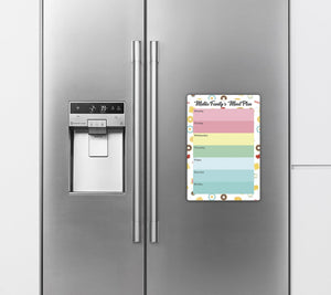 Re-Writeable Meal Plan Fridge Magnet - Family