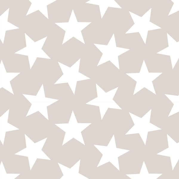 Beige Star Wallpaper