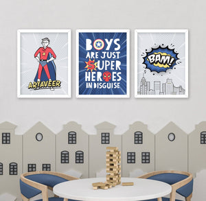 Super Hero Nursery Wall Art
