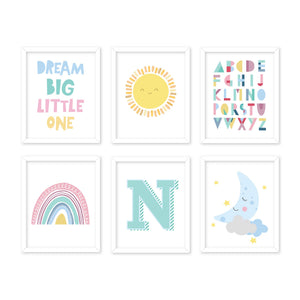 rainbow-baby-nursery-illustrated-wall-art-frames-set