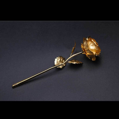 La Rose éternelle - couverte d'or 24 carats - Maisonea