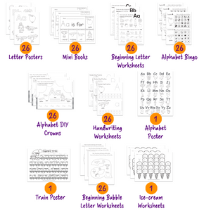 photograph relating to Alphabet Poster Printable known as Alphabet 186 Printable Worksheet Packet