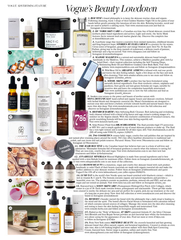 DU NORD SKIN CARE ARCTIC Mask featured in BRITISH VOGUE