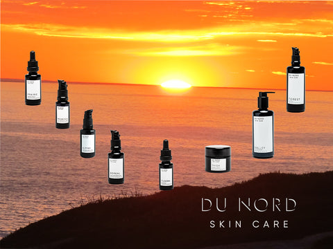 DU NORD SKIN CARE products in the summer sun!
